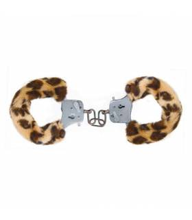 Esposas Toy Joy Furry Fun Cuffs Leopardo Excitante