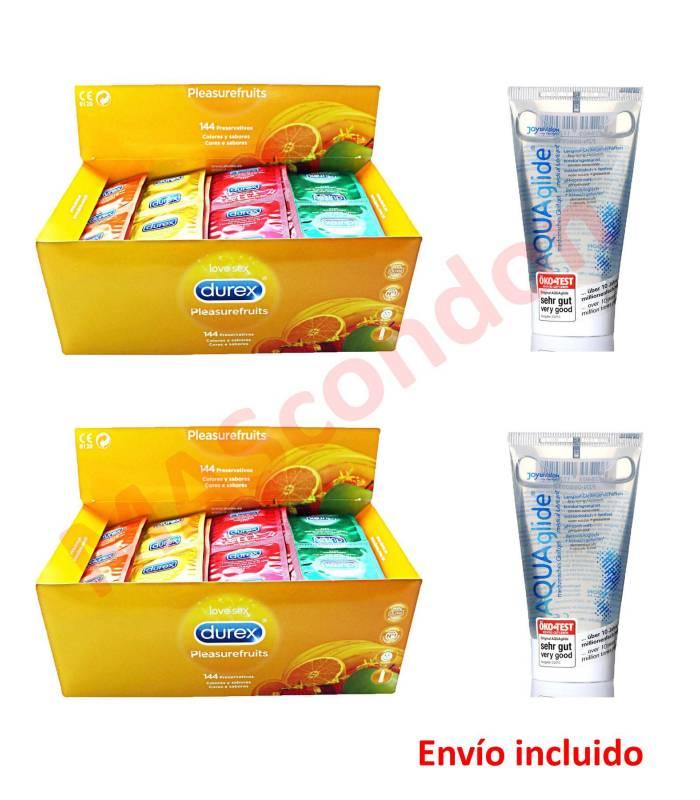 2 cajas Durex Sabores 144 uds y 2 Aquaglide  ref: