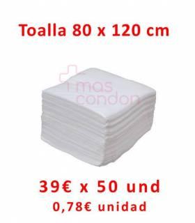 Toallas desechables 80x120 cm 50 und