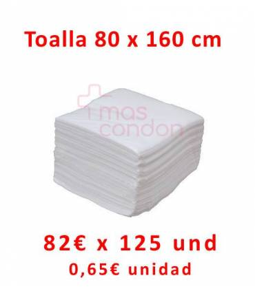 Toallas desechables 80x160 cm 125 und  ref: