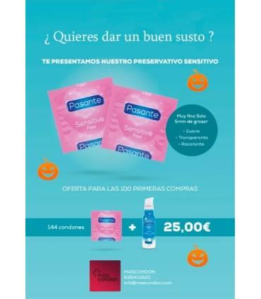 Oferta 144 preservativos finos y lubricante  ref: