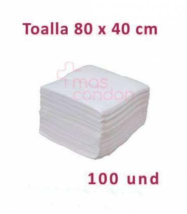 Toalla desechable 80x40 cm 100 und