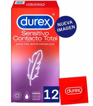 Durex Sensitivo Contacto Total 12 uds