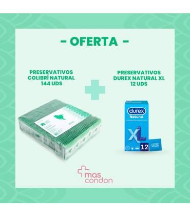 144 preservativos colibri+12 Durex xl