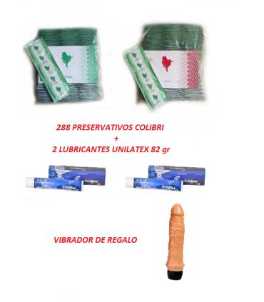 Oferta 288 preservativos lubricante y vibrador