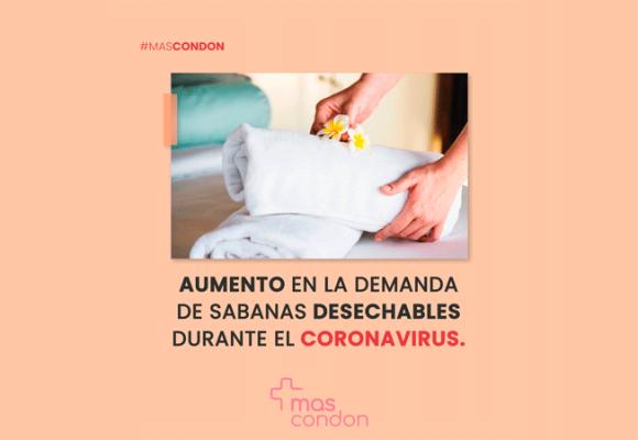 Aumenta el consumo de sabanas y toallas desechables durante la pandemia del coronavirus