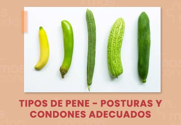 Tipos de pene - Posturas y condones adecuados